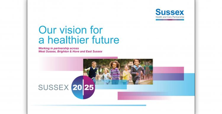 Front page of Sussex Health and Care Partnership Vision report