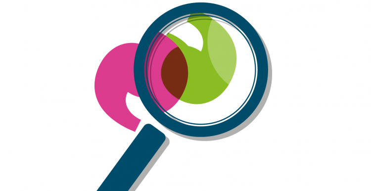 Graphic of a magnifying glass