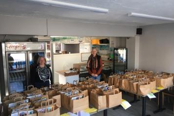 Image of Selsey Foodbank info table at event
