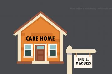Care Home in special measures graphic - Vector created by iconicbestiary - www.freepik.com