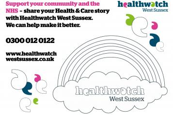 Healthwatch West Sussex Colouring in sheet for windows
