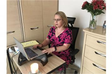 Julie Kalsi working from home