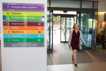 Lady arriving at hospital