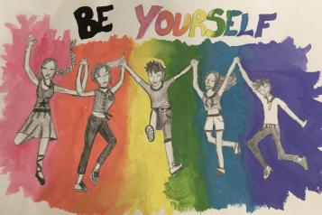 Emma's 'Be Yourself' artwork