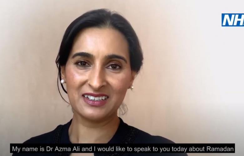 Screenshot of Dr Azma Ali from video