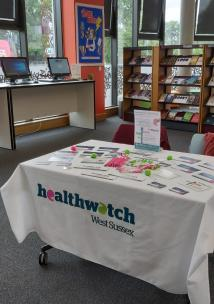 Healthwatch Stand at library